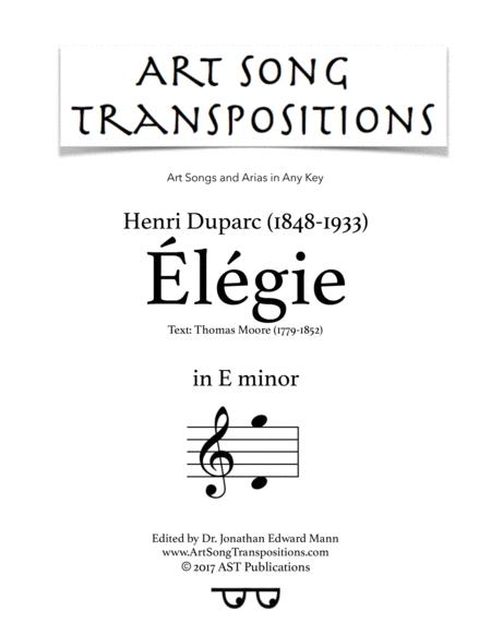 Élégie (E minor)