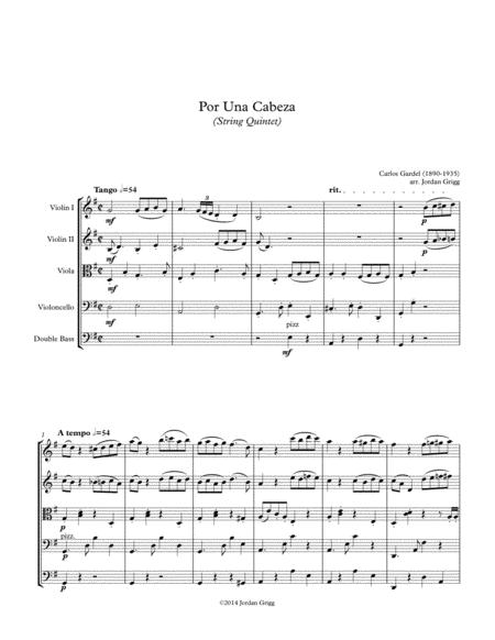 Por Una Cabeza (String Quintet)