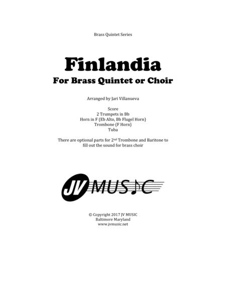 Finlandia Hymn for Brass Quintet or Choir