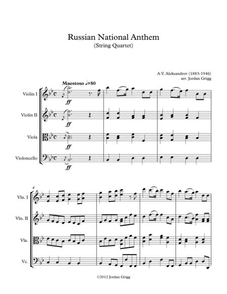 Russian National Anthem (String Quartet)