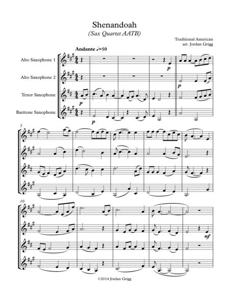 Shenandoah (Sax Quartet AATB)