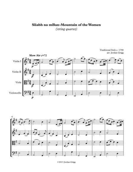 Sliabh na mBan - Mountain of the Women (string quartet)
