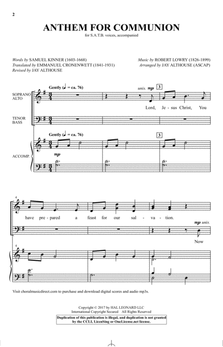 Anthem For Communion