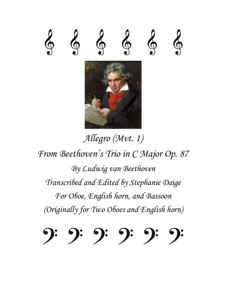 Allegro (mvt. 1) from Beethoven Trio in C Major, Op. 87, for Oboe, English horn, and Bassoon