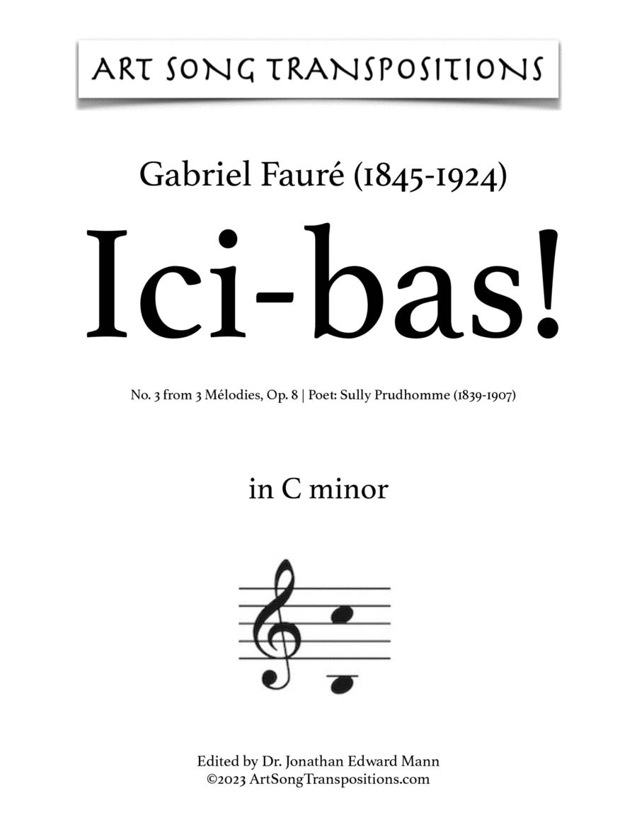Ici-bas! Op. 8 no. 3 (C minor)