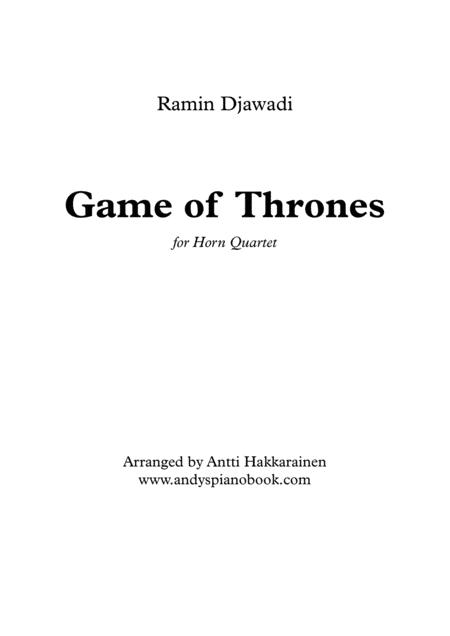 Game Of Thrones - Horn Quartet