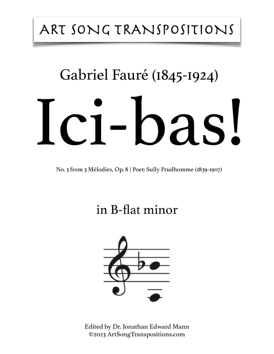 Ici-bas! Op. 8 no. 3 (B-flat minor)