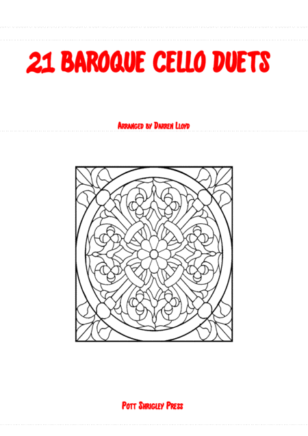 21 Baroque duets for 2 Cello's