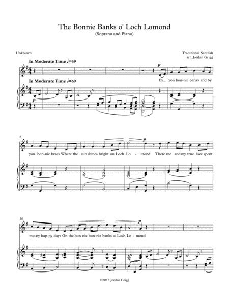 The Bonnie Banks o' Loch Lomond (Soprano and Piano)