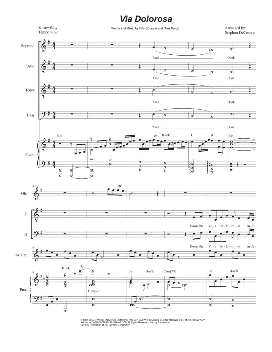 Via Dolorosa (for Vocal Quartet - SATB)