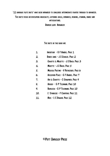 11 Baroque Flute duets