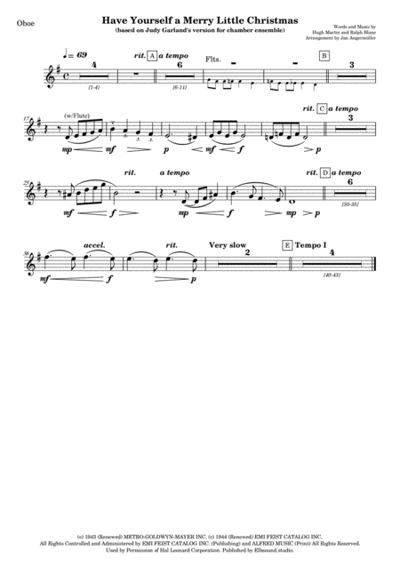 Have Yourself A Merry Little Christmas (Woodwind parts)
