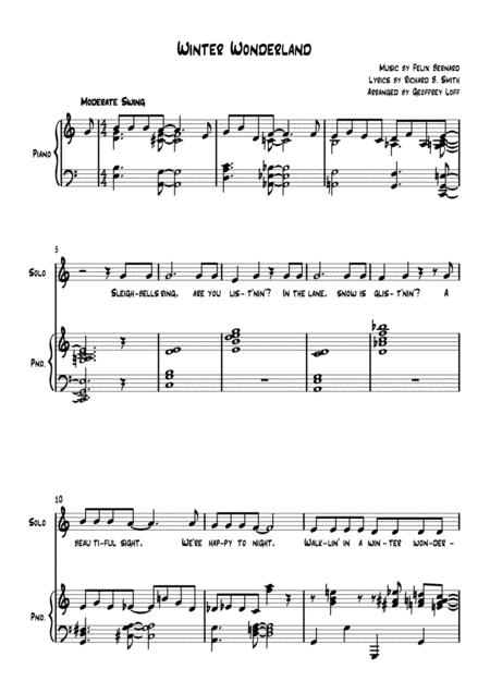 Winter Wonderland - Voice and Piano
