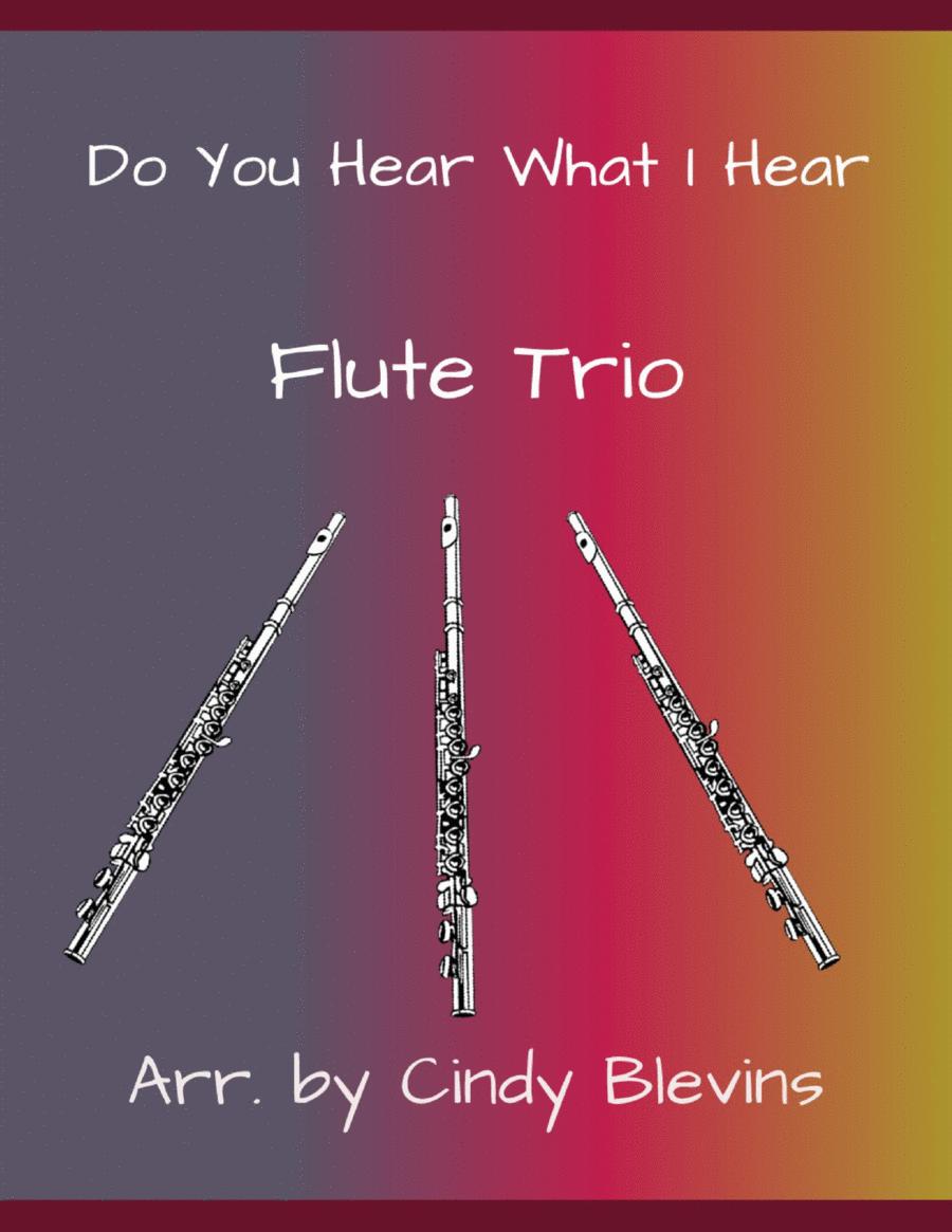 Do You Hear What I Hear, arranged for Flute Trio