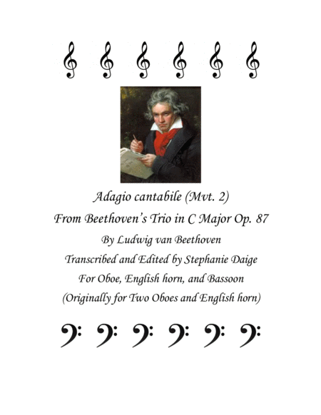 Adagio cantabile (mvt. 2) from Beethoven Trio in C Major, Op. 87, for Oboe, English horn, and Bassoon