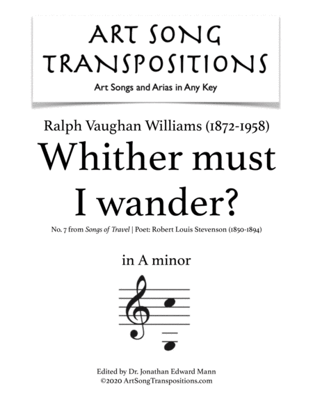 Whither must I wander? (A minor)