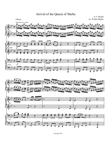 Queen of Sheeba Piano Trio (1 Piano 6 Hands)