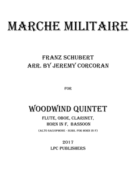 Marche Militaire for Woodwind Quintet