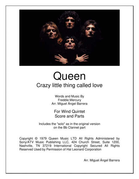 Crazy Little Thing Called Love, For Wind Quintet