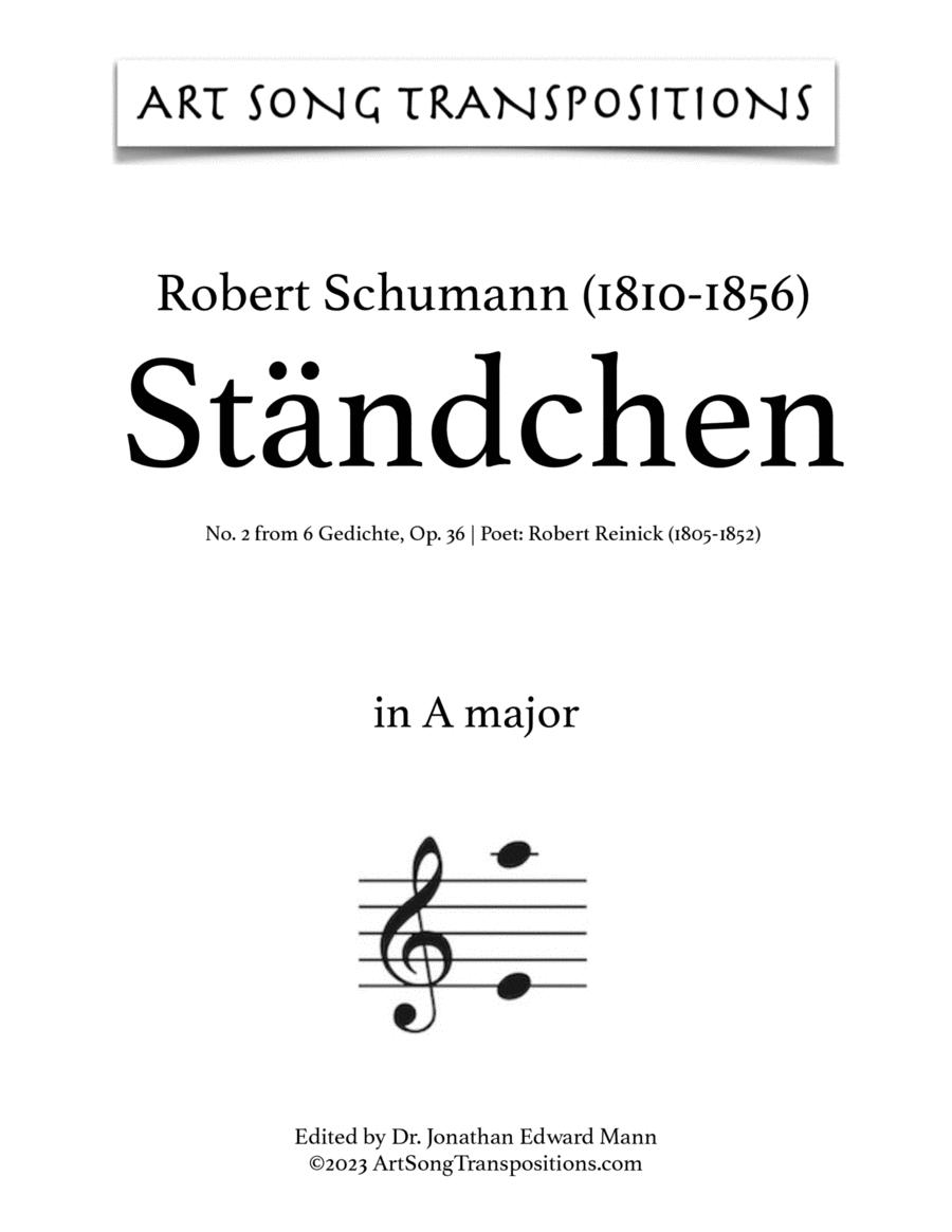 Ständchen, Op. 36 no. 2 (D major)