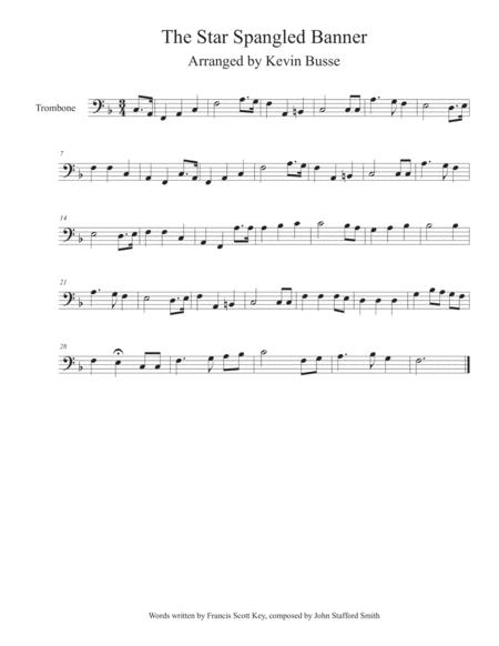The Star Spangled Banner - Trombone