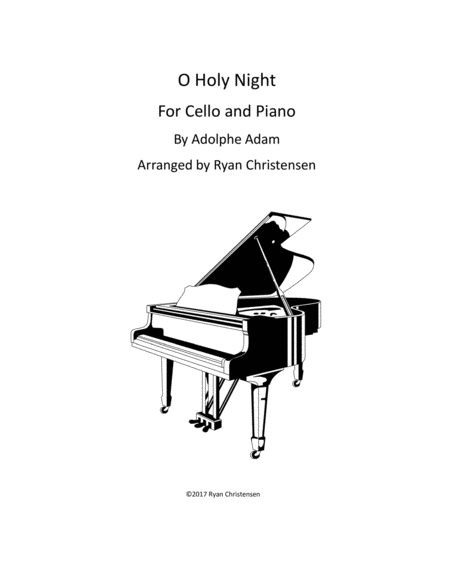 O Holy Night- Cello and Piano