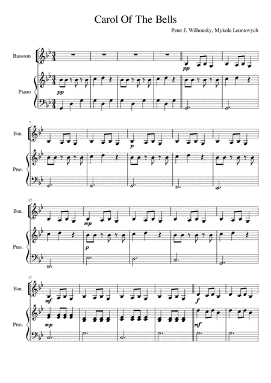 Carol Of The Bells - Bassoon Solo