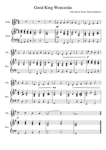 Good King Wenceslas - Violin Solo