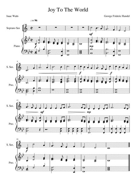 Joy To The World - Soprano Saxophone Solo