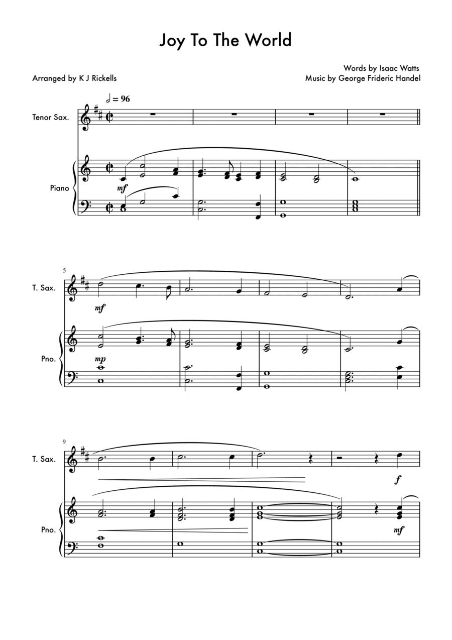 Joy To The World - Tenor Saxophone Solo