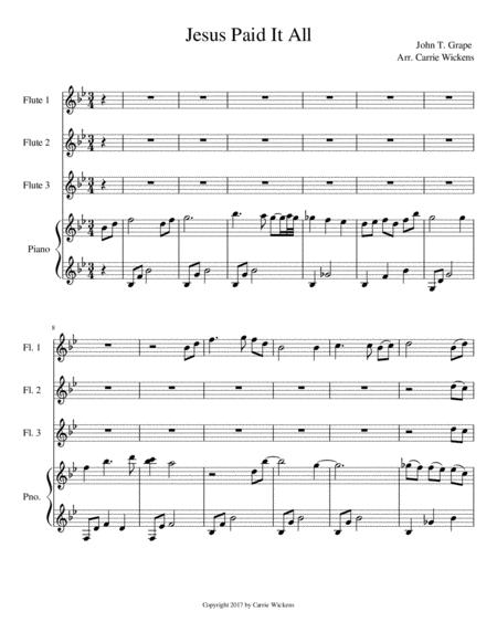 Jesus Paid it All Flute Trio