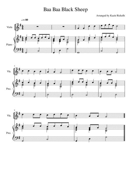 Baa Baa Black Sheep - Viola Solo