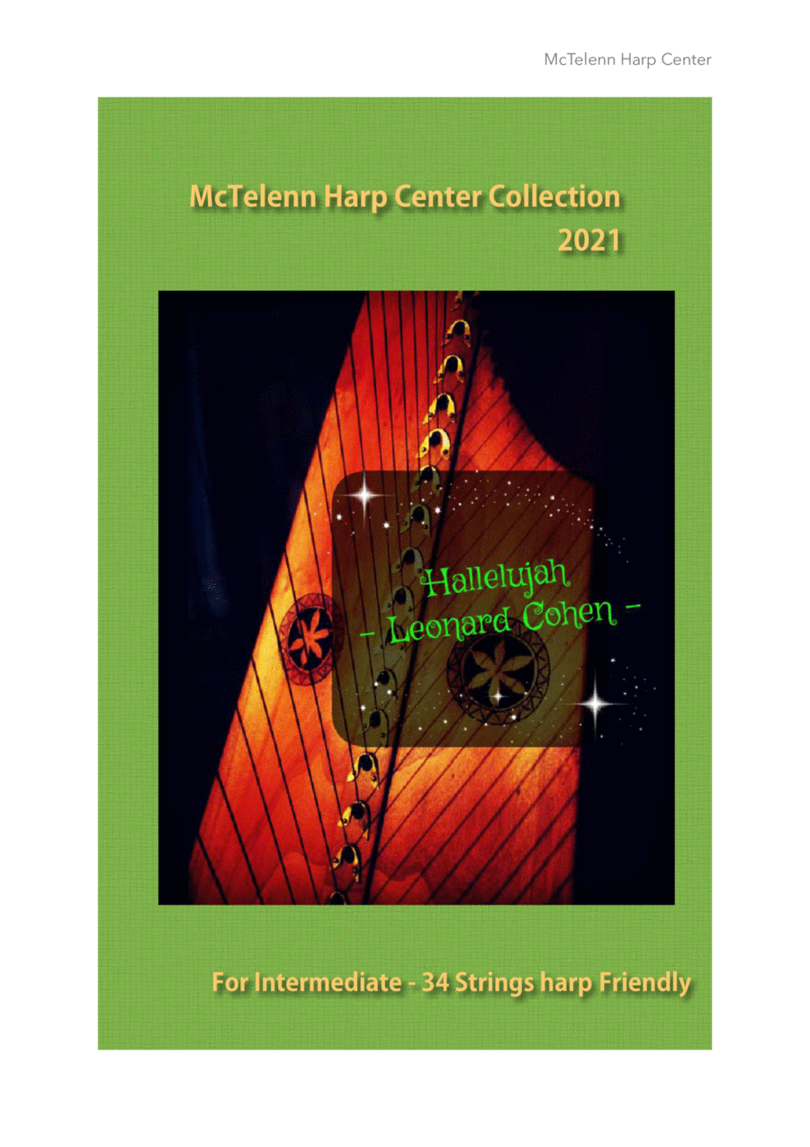 Hallelujah for Lever harp by Eve McTelenn