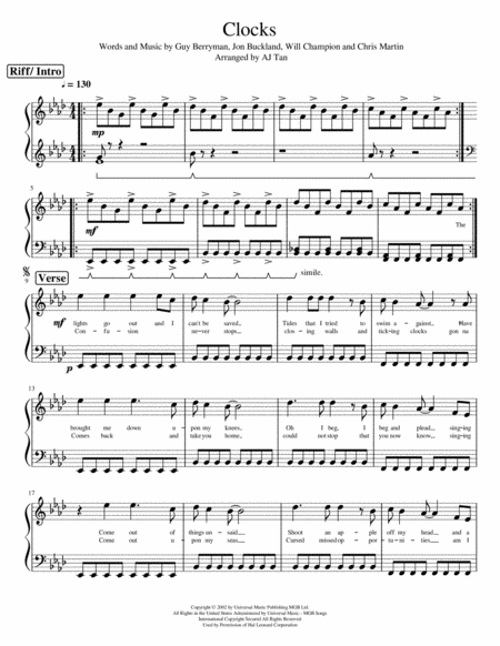 Clocks by Coldplay (Piano Version by nomaditout)