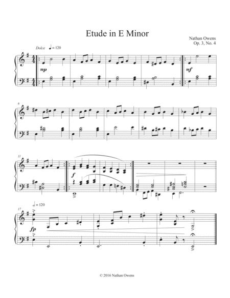 Piano Etude 4 in E Minor