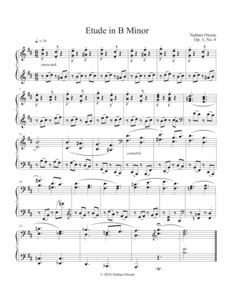 Piano Etude 6 in B Minor