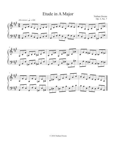Piano Etude 7 in A Major