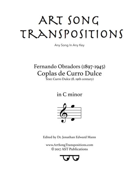 Coplas de Curro Dulce (C minor)