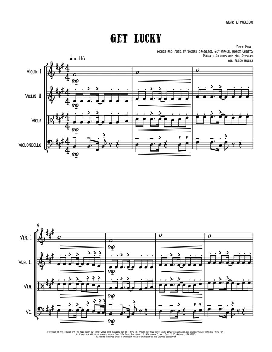 Get Lucky - String Quartet