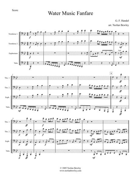 Water Music Fanfare - Low Brass Quartet