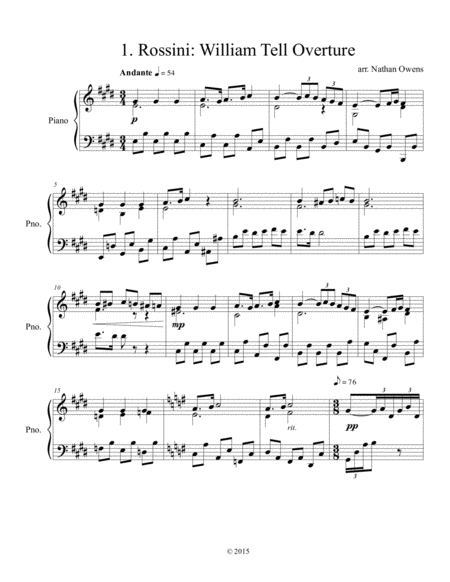 20 Composers for Piano - 1. Rossini