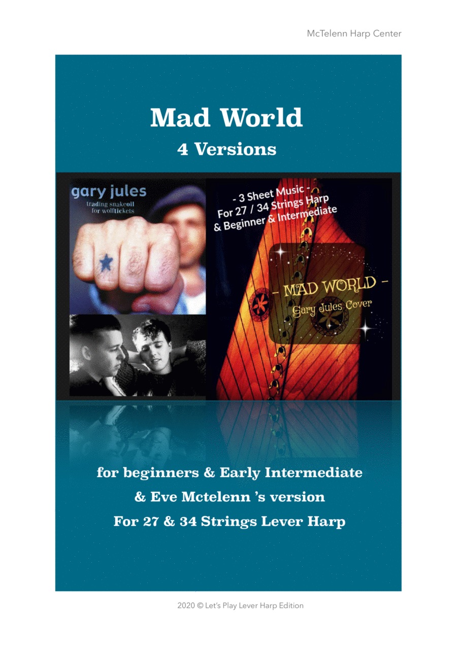 Mad World Cover for Lever Harp - By Eve McTelenn