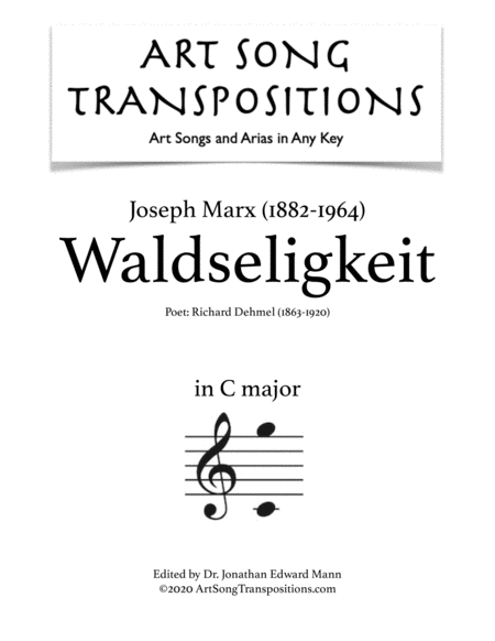 Waldseligkeit (C major)