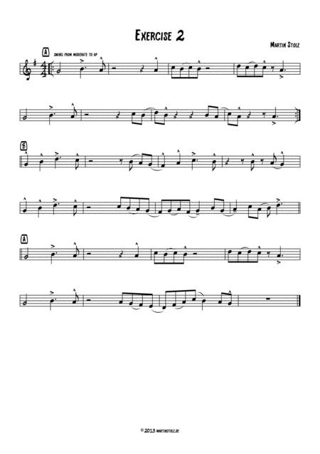 Jazz Exercise 2 Alto Saxophone