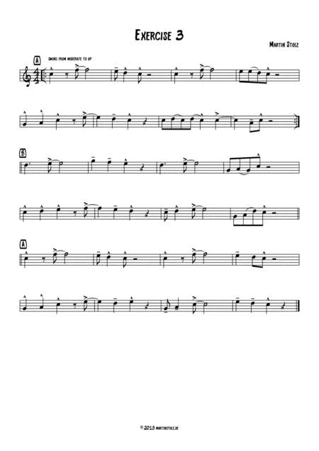 Jazz Exercise 3 Clarinet
