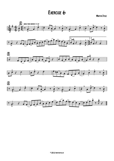 Jazz Exercise 6 Flute