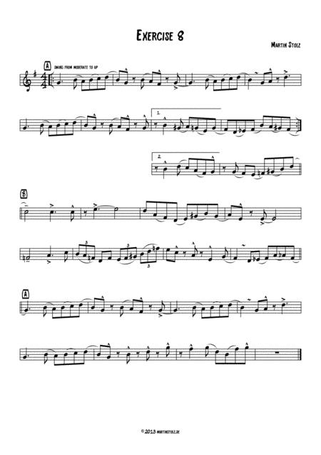 Jazz Exercise 8 Flute