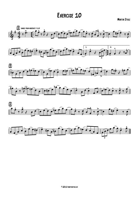 Jazz Exercise 10 Flute