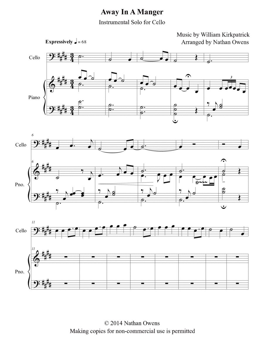Away In A Manger - Cello/Piano