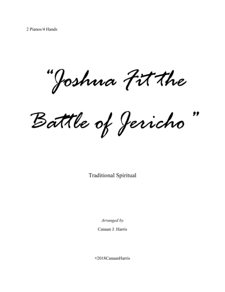 Joshua Fit the Battle of Jericho (2 Piano Duet)
